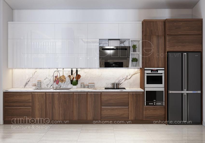thiết kế tủ bếp cao cấp hiện đại